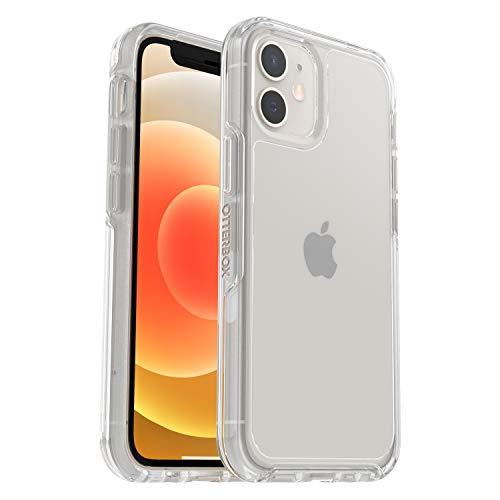 OtterBox Symmetry Clear, funda anticaídas fina y elegante, para Apple iPhone 12 mini, transparente, sin embalaje
