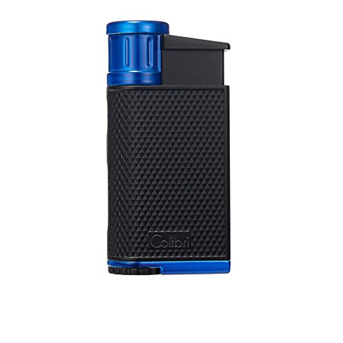 Colibri EVO Angled Single Jet Flame Lighter - Black & Blue