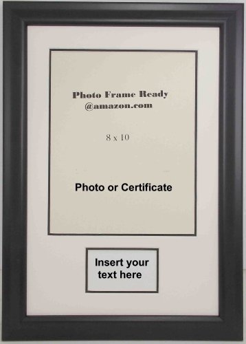 Tabletop Award Plaque (Graduation Diploma or Certificate Photo Frame 8x10 with Plaque Opening)