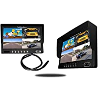 Tadibrothers 9 Inch Split Screen Monitor for up to 4 Backup Cameras