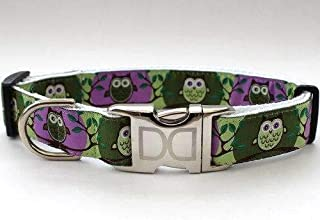 product image for H'Owl Custom Dog Collar in Grape/Avocado (Optional Matching Leash Available) XXS