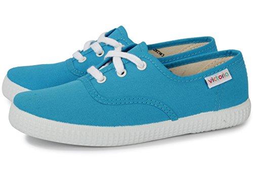 Victoria Inglesa Lona 6613, Zapatillas de Tela Unisex Turquesa