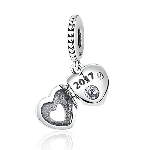 The Kiss 2017 Love Heart 925 Sterling Silver Bead Fits European Charm Bracelet