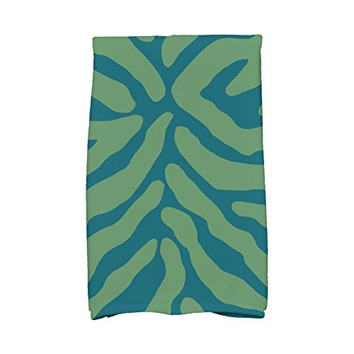 E by Design Flora and Fauna Animal Stripe Kitchen Towel by E by design