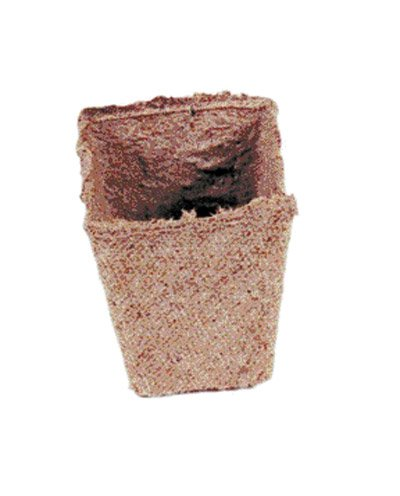 Jiffy 70000505 Square Bulk Peat Pot, 2.25-Inch
