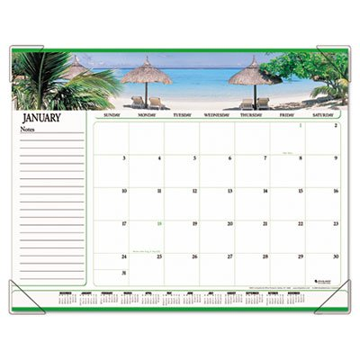 (Visual Organizeramp;reg; Panoramic Seascape Monthly Desk Pad Calendar, 22 x)