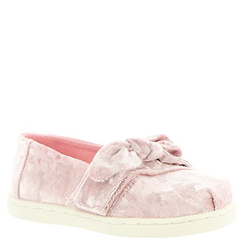 TOMS Kids 10009918 Alpargata-K Light Faded Rose Velvet/Bow coKuMtI