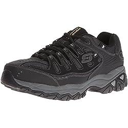 Skechers Sport Men's Afterburn Memory Foam Lace-Up Sneaker,Black,13 4E US