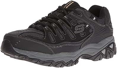 Skechers Men's AFTERBURNM.FIT Memory Foam Lace-Up Sneaker, Black, 6.5 M US