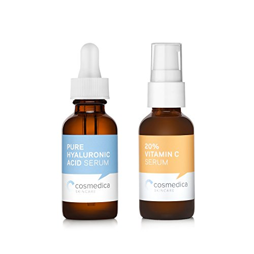 (Cosmedica Skincare Best-Seller Set- Vitamin C Super Serum and Pure Hyaluronic Acid)