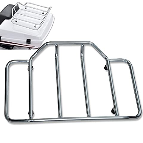 TJMOTO Chrome Premium Tour-Pak Luggage Rack for 1984-2013 Harley-Davidson Toruing King, Chopped and Razor-Pak Tour-Pak carrier - Tour Rack