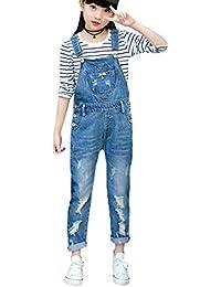 Girls Overall, Overalls for Girls Cute Boyfriend Jeans Denim Romper Long Shortalls