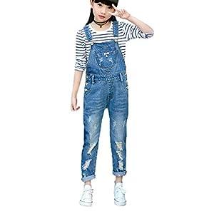 Luodemiss Girls Overall, Overalls for Girls Cute Boyfriend Jeans Denim Romper Long Shortalls