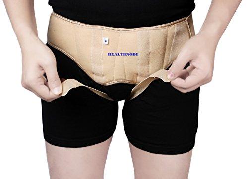 Healthnode(TM) Inguinal Hernia Support Belt/Hernia Belt Support Truss with Special Foam Pads - Superior Comfort and Adjustable Pressure by HealthNode (Medium) Beige Color