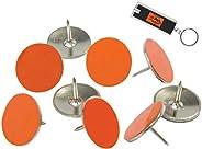 Orange Reflective Tacks 100 Pack Trail Marking Tacks, Glow Tacks, Hiking Markers, Trail Marking Reflectors, Ma