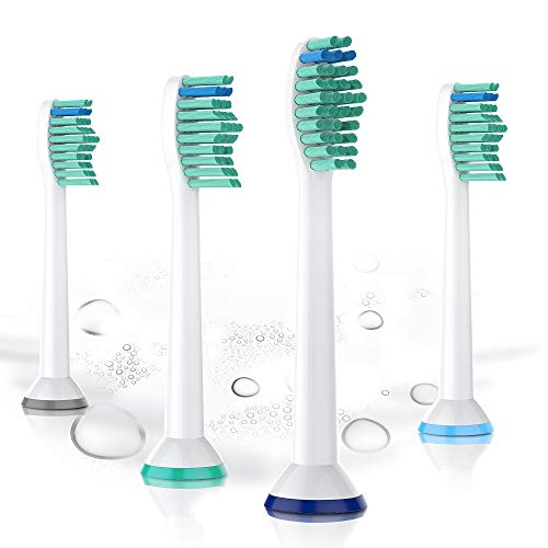 (Toothbrush Replacement Heads, Compatible with Philips Electric Toothbrush, Fit Diamond Clean, Flex Care, Healthy White, Easy Clean (4pack, White))
