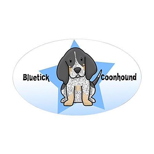CafePress Star Kawaii Bluetick Coonhound Oval Sticker Oval Bumper Sticker, Euro Oval Car Decal