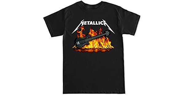 Amazon.com: FTD Apparel Mens Metallica Robert Trujillo Guitar T Shirt: Clothing