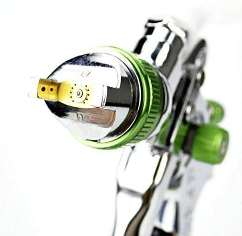 Maso Hvlp Luftsprühpistolen Set Mit 3 Düsen Und 600 Cc Bechern Auf Der Oberseite 1 4 Mm 1 7 Mm 2 0 Mm Für Lack Auto Grundierung Decklack Ausbesserung Auto