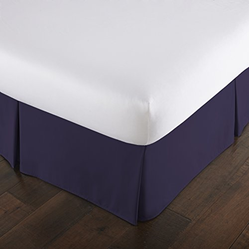 (Southshore Fine Linens - VILANO Springs - 15 inch Drop Pleated Bed Skirt, Purple, Queen)