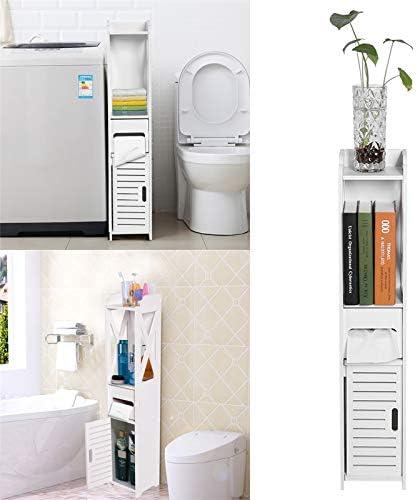 Slim Tall Bathroom Storage Cabinet Unit Bathroom Storage Floor Standing Cabinet White Robust Bathroom Furniture Bathroom Toilet Slim Shelf Bathroom Cupboard 80 15 5 15cm Amazon Co Uk Kitchen Home