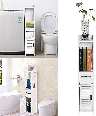 Toiletten-Schränkchen Badregal WC-Regal Badmöbel Toilettenpapieraufbewahrung