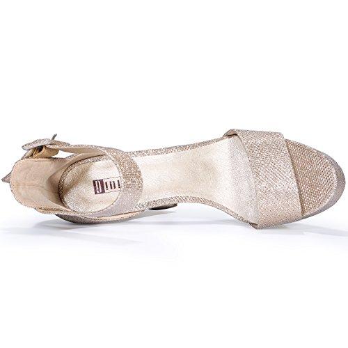 IDIFU Women's IN5 Sabrina Ankle Strap Platform High Chunky Heels Party Sandal
