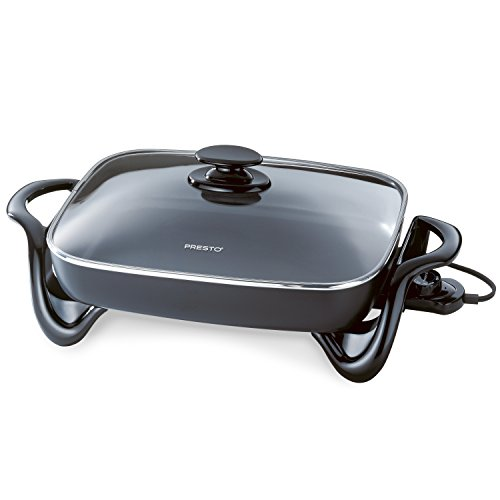 - Presto 06852 16-Inch Electric Skillet with Glass Cover