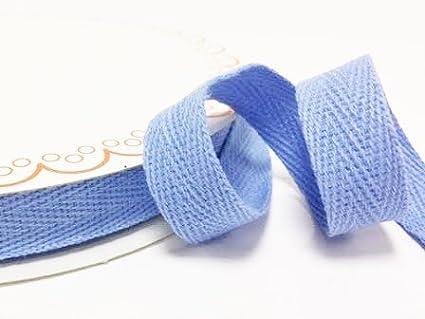N.B. este es un corte de un rollo, presentado en una tarjeta de bertie s Bows Bertie s Bows 15/mm Cielo Azul Algod/ón Herringbone cinta//banda en un 4/m longitud