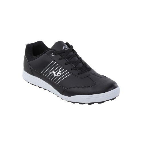 (Woodworm Surge Golf Shoe Black/Black 8)