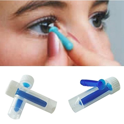 Dolland 1pc Contact Lens Inserter Suitable For Soft Hard Lenses Cosmetic Contact Lenses Portable Design Easy to Carry, Blue]()