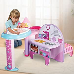 Amazon Com Little Mommy All In One Nursery Play Center