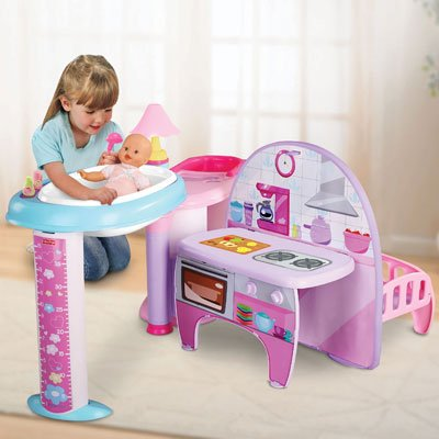 Little Mommy All In One Nursery Play Center With Newborn Doll Folds Compact  Design