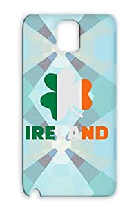 Ireland Irish St. Patrick's Day Flag Paddy Patricks Shamrock St Holidays Occasions Silver For Sumsang Galaxy Note 3 TPU Case Cover