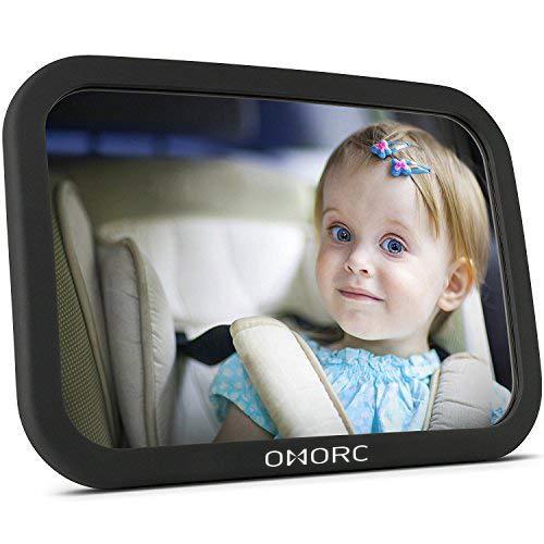 OMorc Miroir Auto Bébé Rétroviseur de Surveillance Bébé pour Siège Arrière Miroir de Voiture pour Bébé en Sécurité avez une Rotation 360° product image