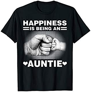 Happiness is being an auntie shirt - New aunt to be T-shirt | Size S - 5XL