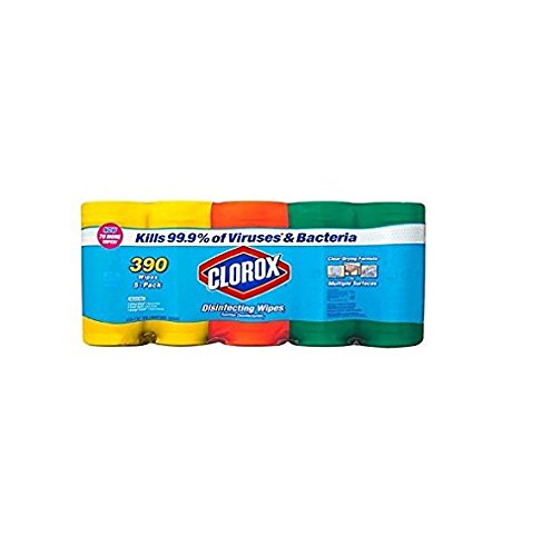 Clorox Disinfecting Wipes Variety Pack – 5 Pack, 390 Count