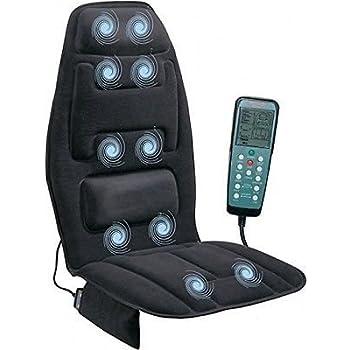Heated Back Massage Seat Cushion Car Chair Massager Lumbar Neck Pad Heater