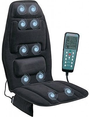 Heated Back Massage Seat Cushion Car Chair Massager Lumbar Neck Pad Heater