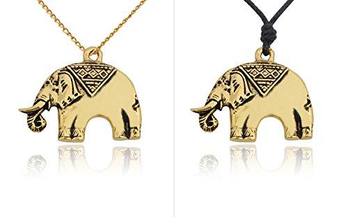 Vintage Elephant Handmade Brass Charm Necklace Pendent Jewelry