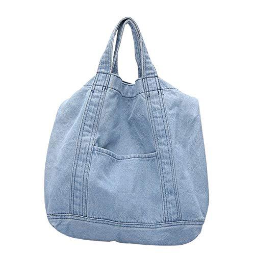 (Women's Elegant Denim Satchel Single Shoulder Crossbody Bag Oversized Creative Tote Beach Bag)