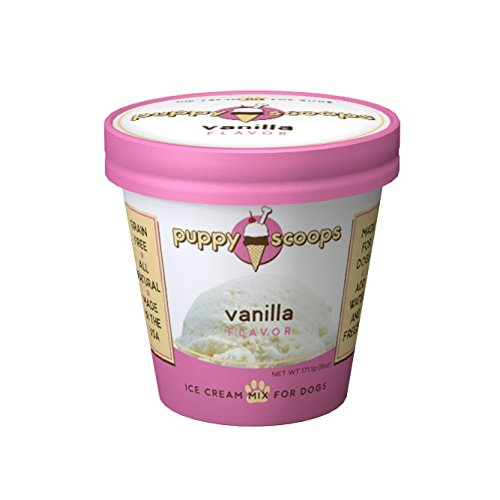 Puppy Scoops Ice Cream Mix for Dogs: Vanilla - Add water and freeze at home! (Cream Dogs Ice)