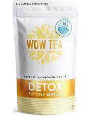 WOW TEA - Snelwerkende Detox Thee | 24 uur | Helpt opgeblazen gevoel te verminderen | Positieve invloed op eetlust en metabolische processen | Biologische kruidenthee | 150g, Made in EU