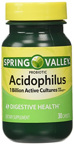 Spring Valley - Acidophilus, 1 Billion Active Cultures, 30 Caplets (Regimen Caplets)