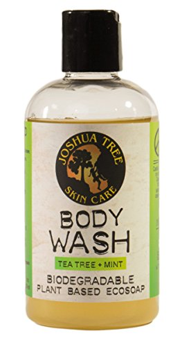 Joshua Tree 8 oz. Body Wash, Shampoo - Biodegradable Plant Based Eco Soap with Organic Ingredients (Tea Tree + Mint) (Best Soap For Camping)
