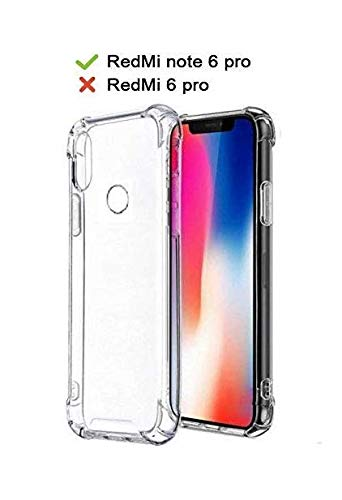 outlet store 827ab 5b836 X Wox Flexible Back Cover For Redmi Note 6 Pro (Transparent)