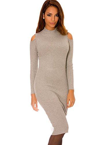 dmarkevous - Vestido - recta - para mujer gris