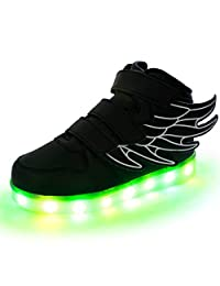 Fuiigo LED Light Up Shoes Kids Shoes Wings Flashing Sneakers for Boys Girls Gifts