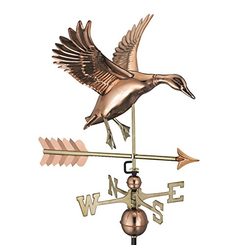 Good Directions Landing Duck with Arrow Weathervane - Pure Copper -