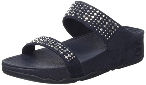FitFlop Women's Novy Slide Sandal, Supernavy, 5 M US by FitFlop